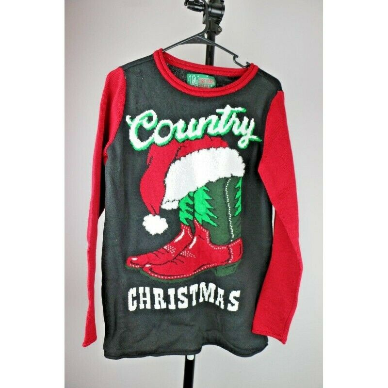 Ugly Christmas Sweater: Country Christmas, Lights Up - Size Medium - fazoom