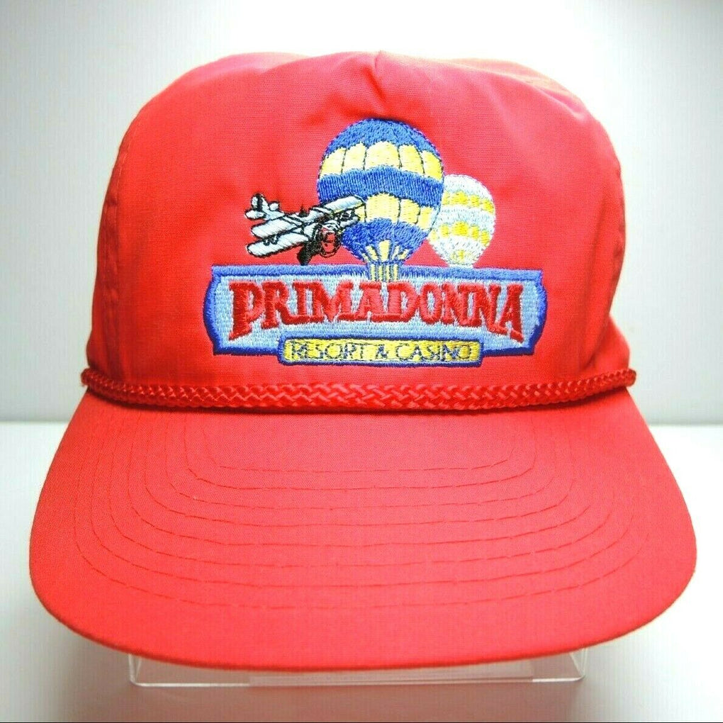 Primadonna Resort & Casino Vintage Red Adjustable Baseball Hat Rope Strapback - fazoom