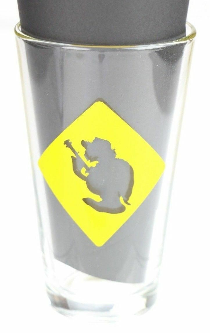 Terrapin Brewing Company Craft Beer Pint Glass Athens GA Yellow Turtle Logo - fazoom