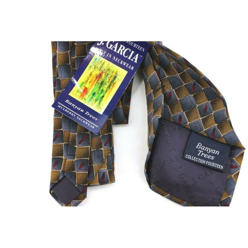 Jerry Garcia Limited Edition Collection 14 Banyan Trees Silk Necktie - Fazoom