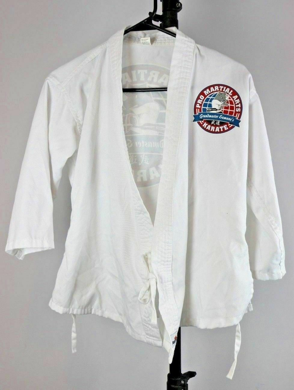 Tiger Claw Martial Arts Karate Coat Jacket Grandmaster Samane's Costume Size 00 - Fazoom
