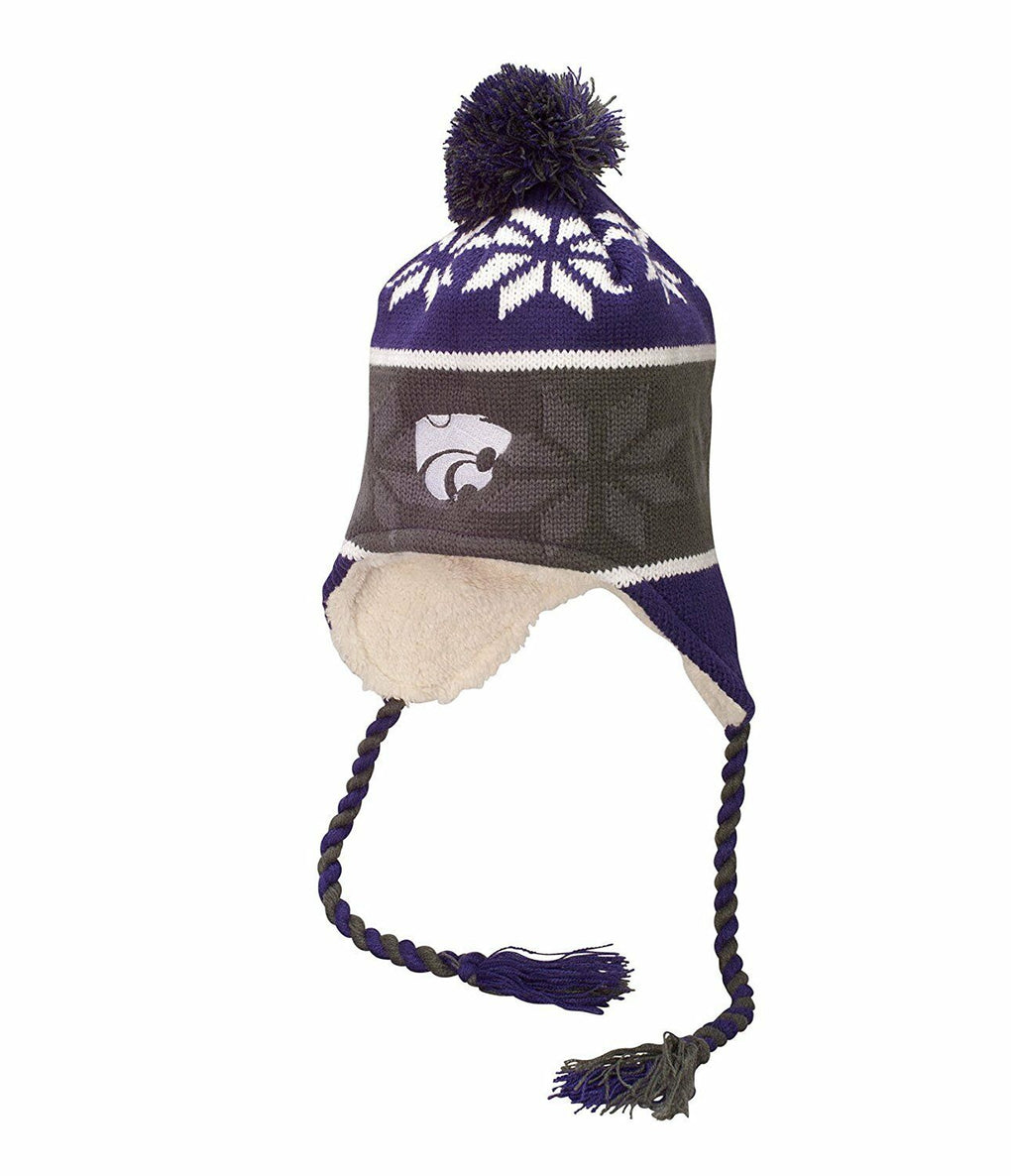 Kansas State Wildcats NCAA Ridge Pom Beanie One Size Stocking Hat Cap - fazoom