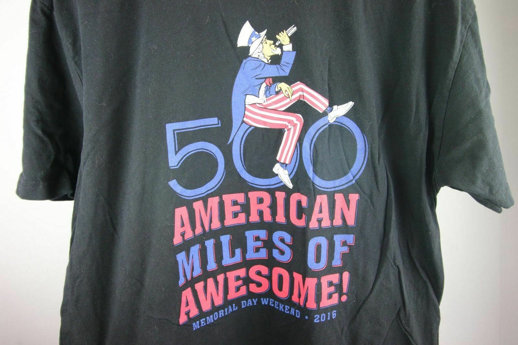 Indy Memorial Day 500 American Miles of Awesome Lincoln T-Shirt tee Size XL 2016 - Fazoom
