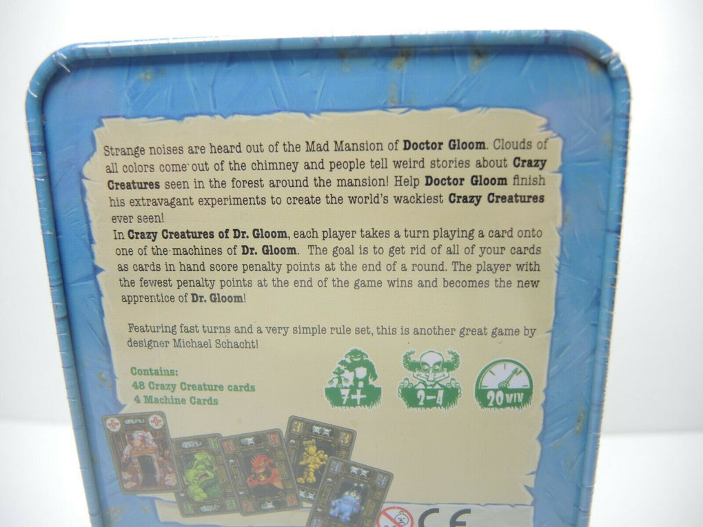 Crazy Creatures of Dr Gloom (2012) Card Game ~ Stronghold Games Michael Schacht - Fazoom