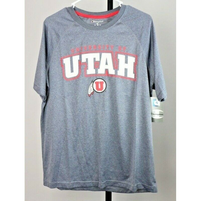 Utah Utes NCAA Jersey Graphic T-Shirt, Gray Heather, Size Medium - Fazoom