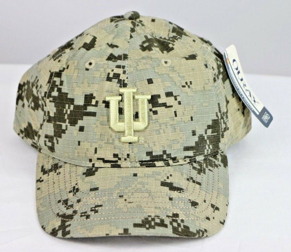 Indiana University Hoosiers NCAA Digital Camo Grey/Sand Cap Hat, Adjustable Size OS - fazoom