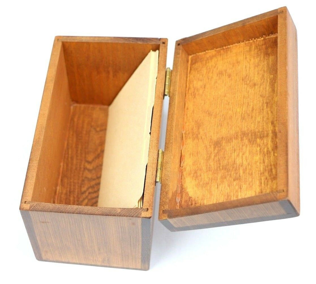 Wood Box, Little Girl and Geese Ducks, Wooden Recipe Box Vintage - Fazoom