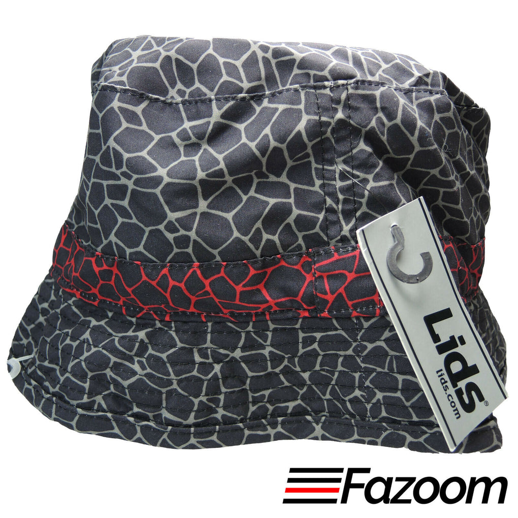 Lids Mens Reversible Bucket Hat (Elephant Print & Black) Size L/XL New - fazoom