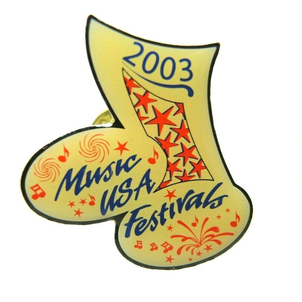 Music USA Festivals 2003 Music Note Eighth Note Lapel Pin - Fazoom