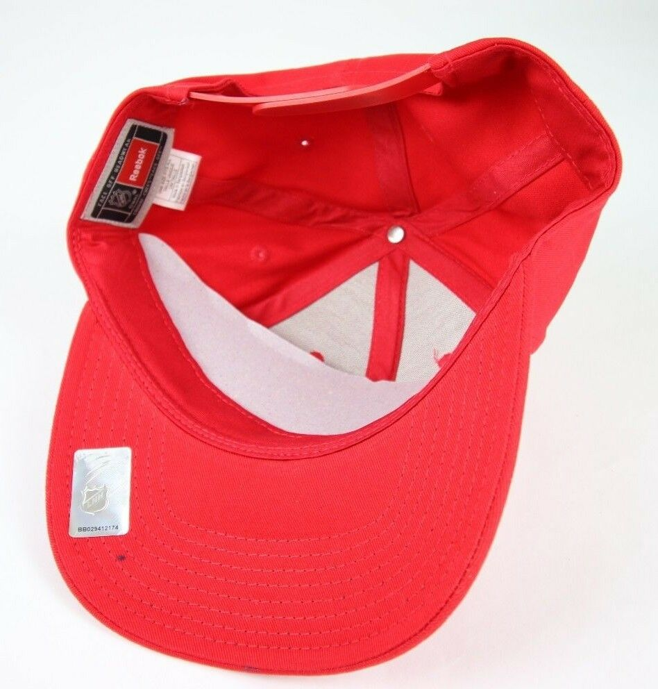 Detroit Red Wings NHL Women's Sequenced Structured Adjustable Snapback Red Hat - fazoom