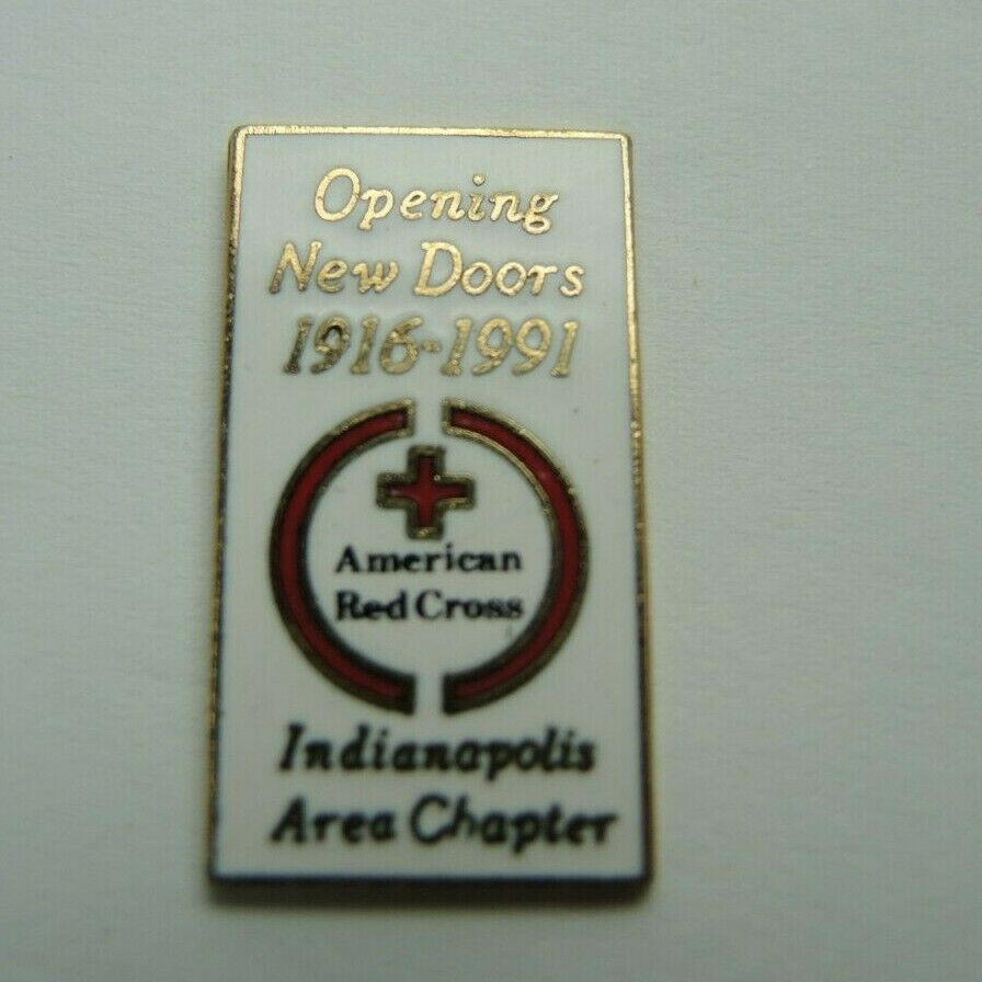 American Red Cross Indianapolis Area Chapter 1916-1991 1-inch Lapel Pin - Fazoom