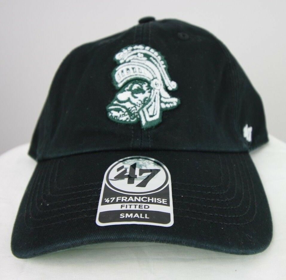 Michigan State Spartans '47 NCAA Franchise Fitted Hat, Black, Small - Fazoom