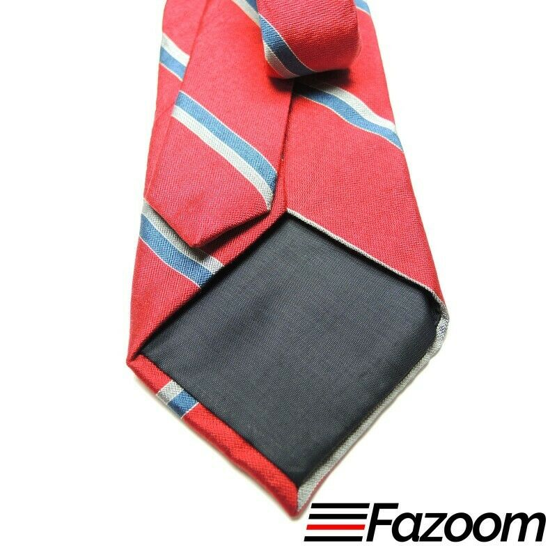 Wembley Red Diagonal Stripes Slip Stitched Quality Necktie - Fazoom