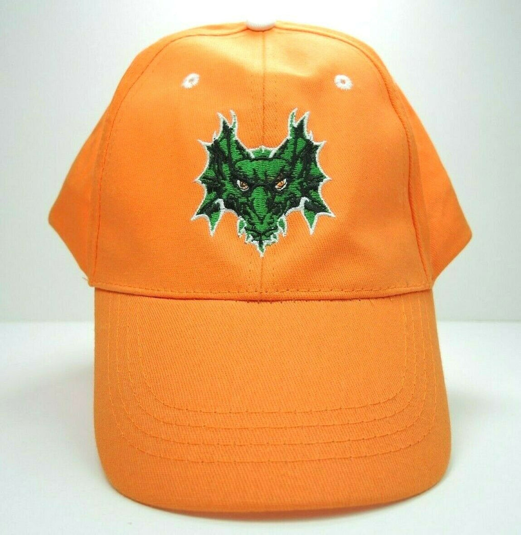 Dragon Fantasy Embroidered Adjustable Orange Baseball Hat Cap Strapback - Fazoom