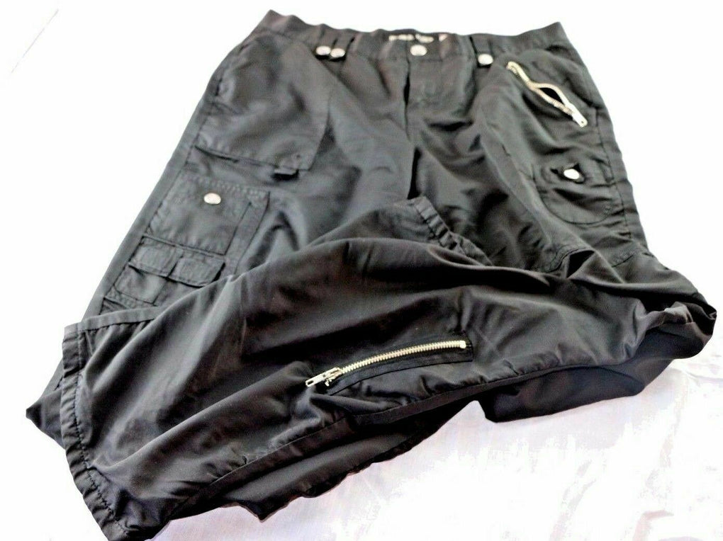 Let Me B. Juniors Black Zipper Buttons Pants SIZE 9 *Flaw* - Fazoom