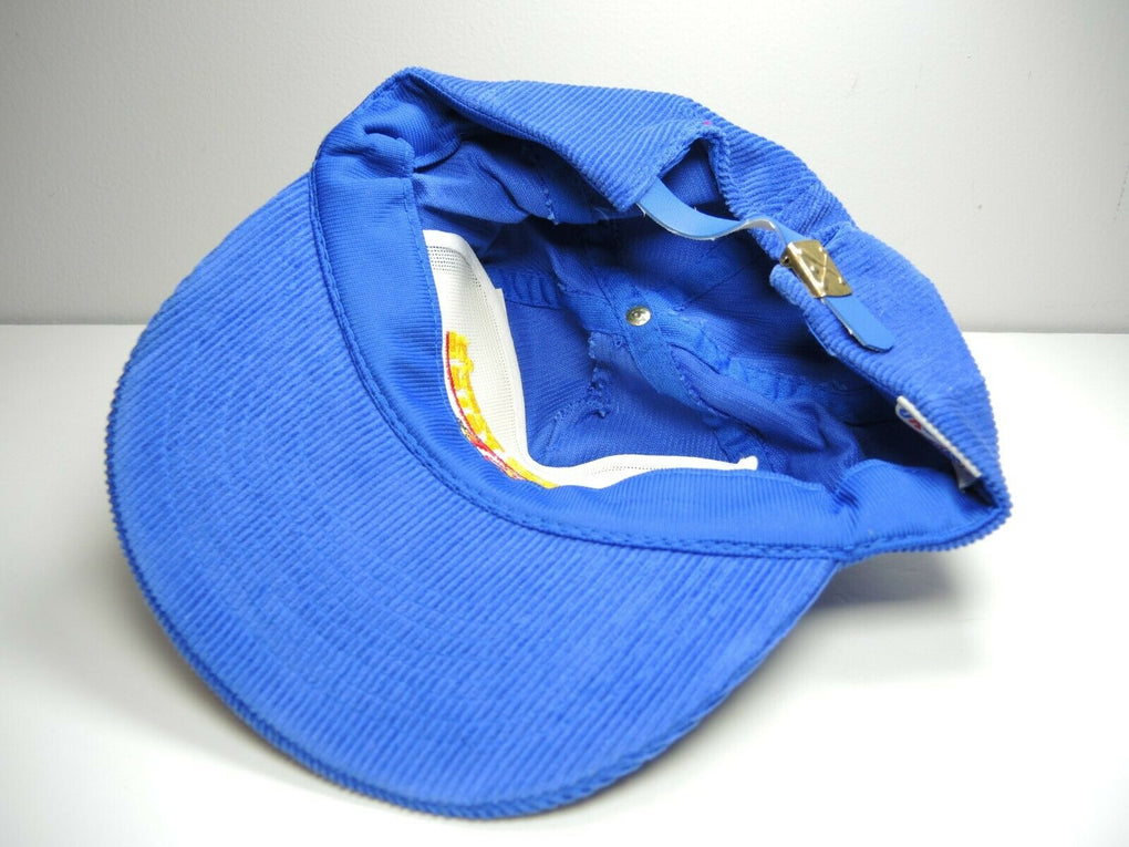 Whiskey Pete's Casino Blue Corduroy Trucker Adjustable Hat Cap Strapback - fazoom