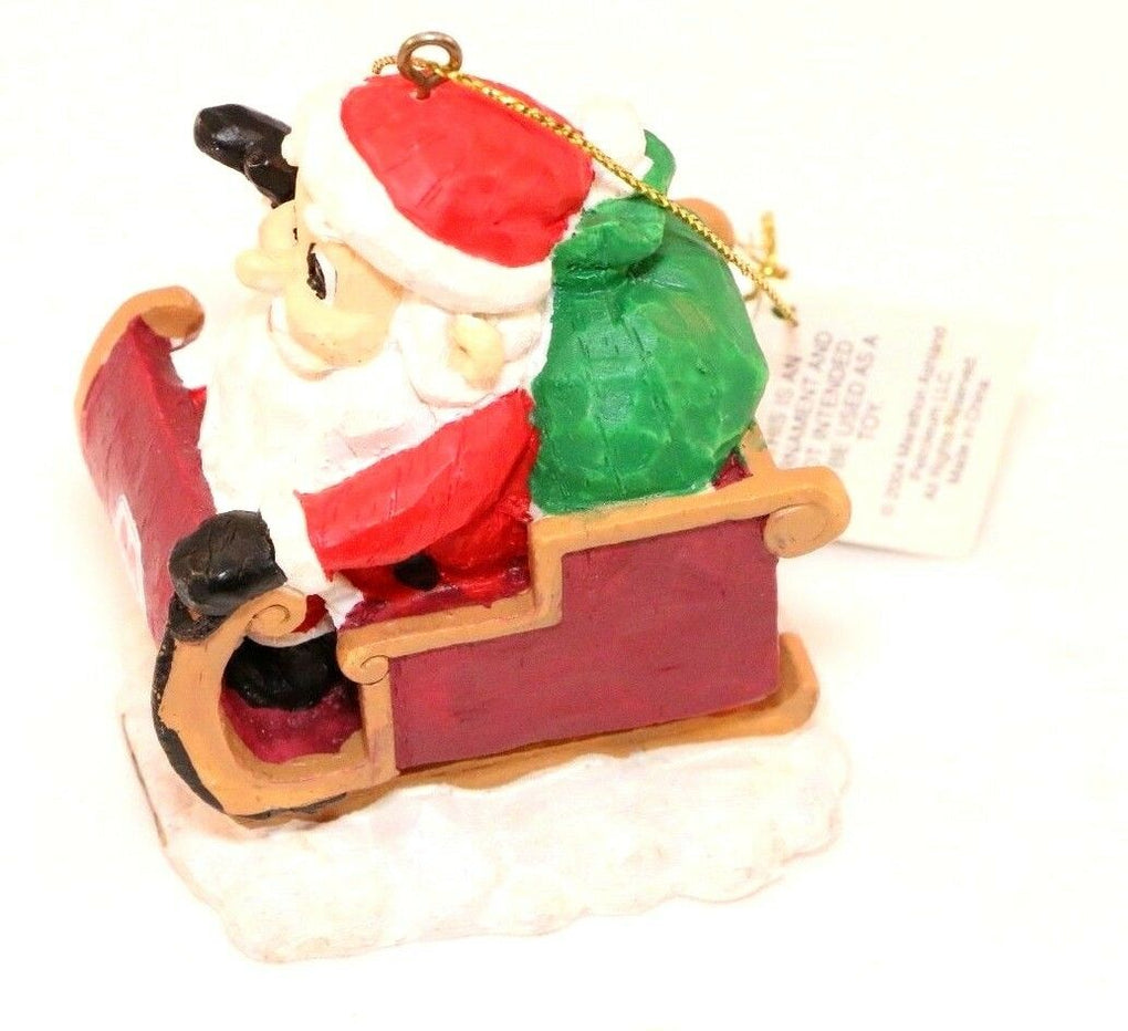 Marathon 2004 Santa Sleigh Ornament #5 of 6 Series 4 Christmas Decoration - Fazoom