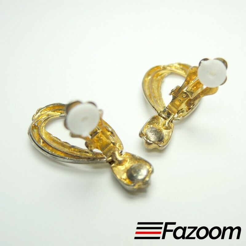 Gold & Silver Tone Dangle Vintage Clip-On Earrings ~ Fashion Costume Jewelry - Fazoom