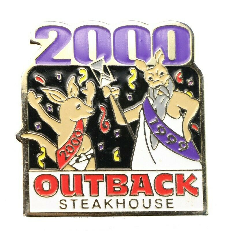 Outback Steakhouse New Year's 2000 Lapel Pin - Fazoom