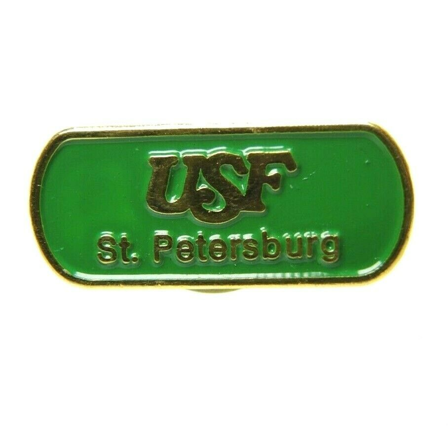 University of South Florida USF St. Petersburg Gold Tone Lapel Pin - fazoom