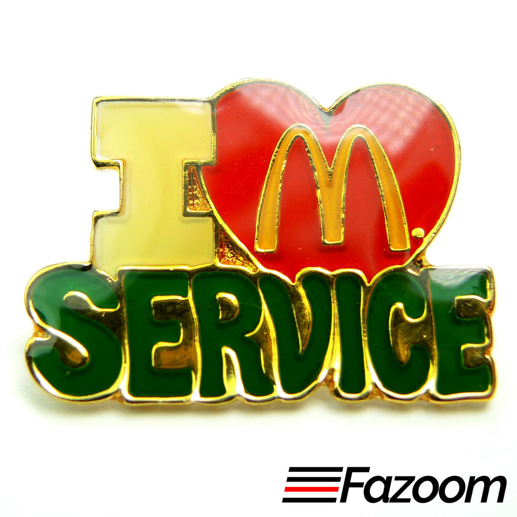 McDonald's I Love Service Lapel Pin - fazoom