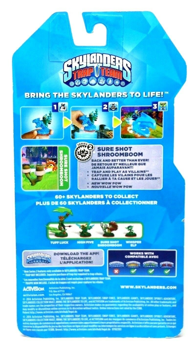 Skylanders Trap Team Sure Shot Shroomboom Figure ~ Series 2 - Fazoom