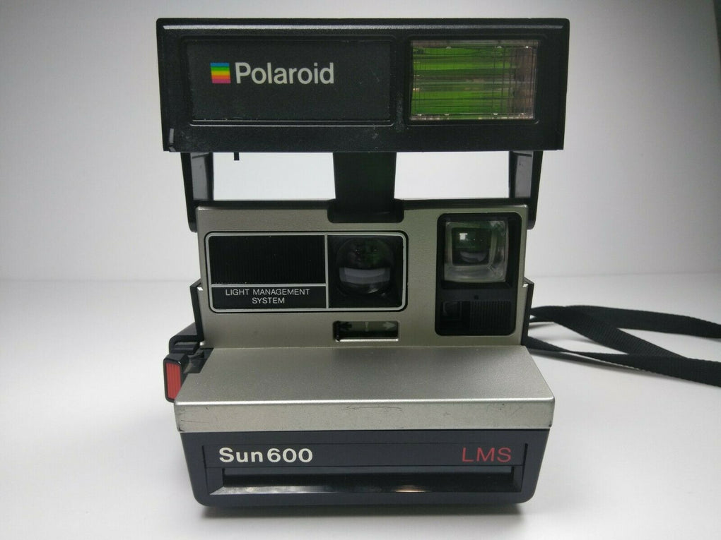 Vintage Polaroid Sun 600 LMS Instant Film Camera with Strap Untested - fazoom