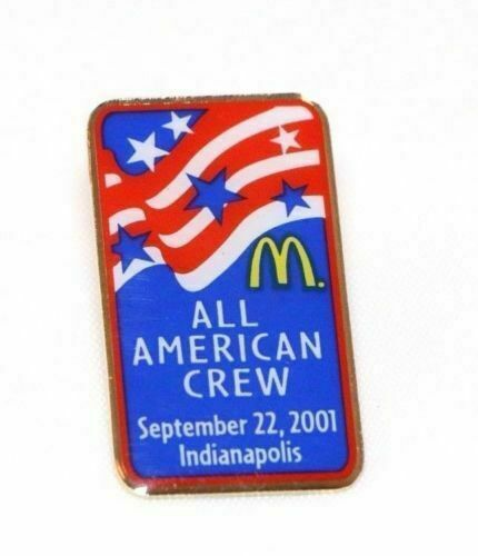 McDonald's ALL AMERICAN CREW Indianapolis September 22, 2001 Lapel Employee Pin - Fazoom