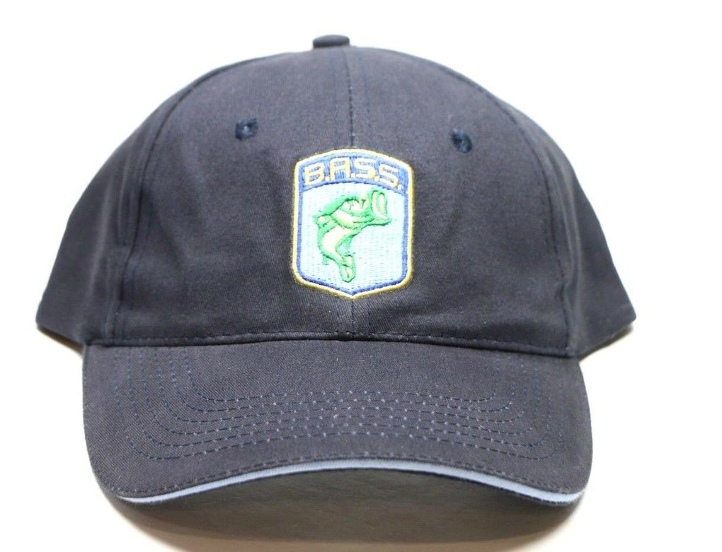 B.A.S.S. Bass Anglers Sportsman Society Hat Blue & Gray Fishing Strapback Cap - fazoom