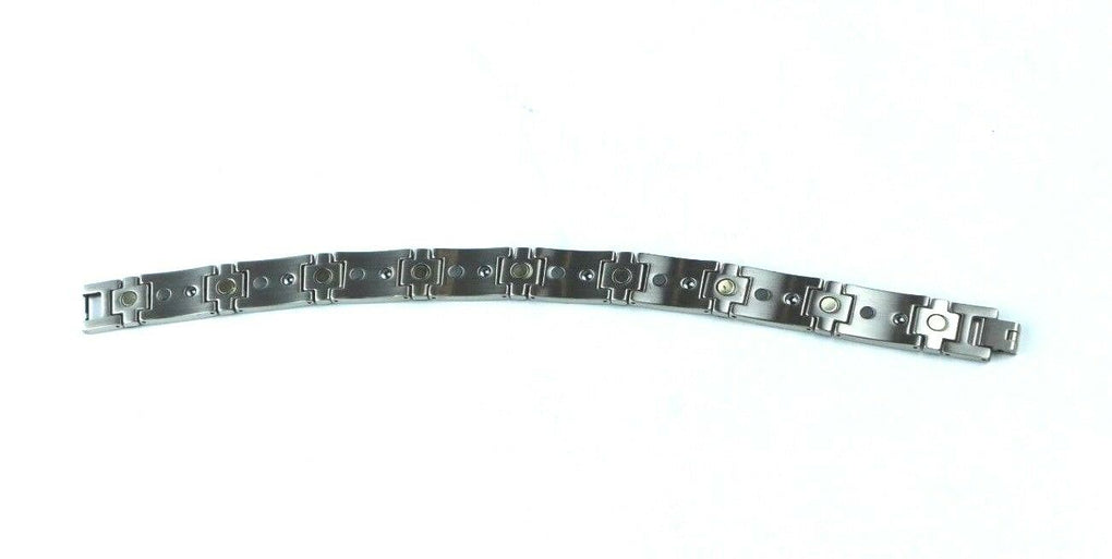 Being USA - Art Steel Bracelet, Silver And Black (BSB076) - fazoom