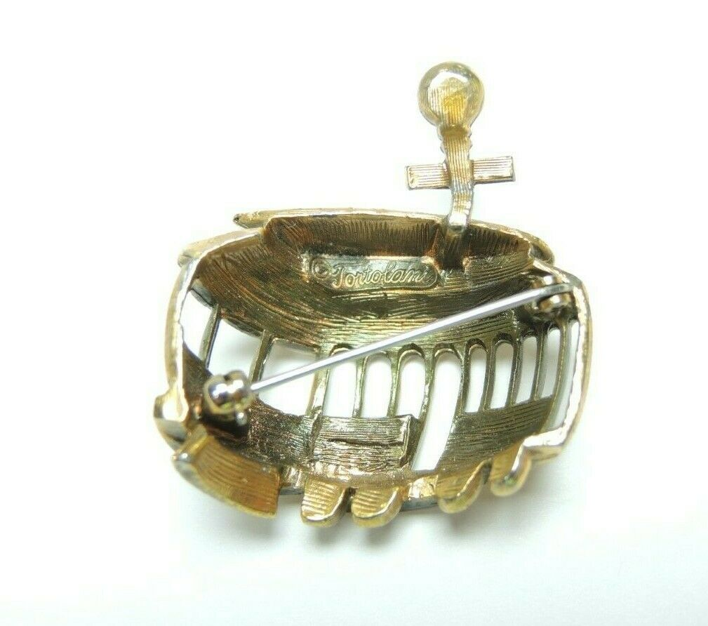 Tortolani Cable Car Trolley Pin Brooch San Francisco Hyde St Market St Vintage - Fazoom