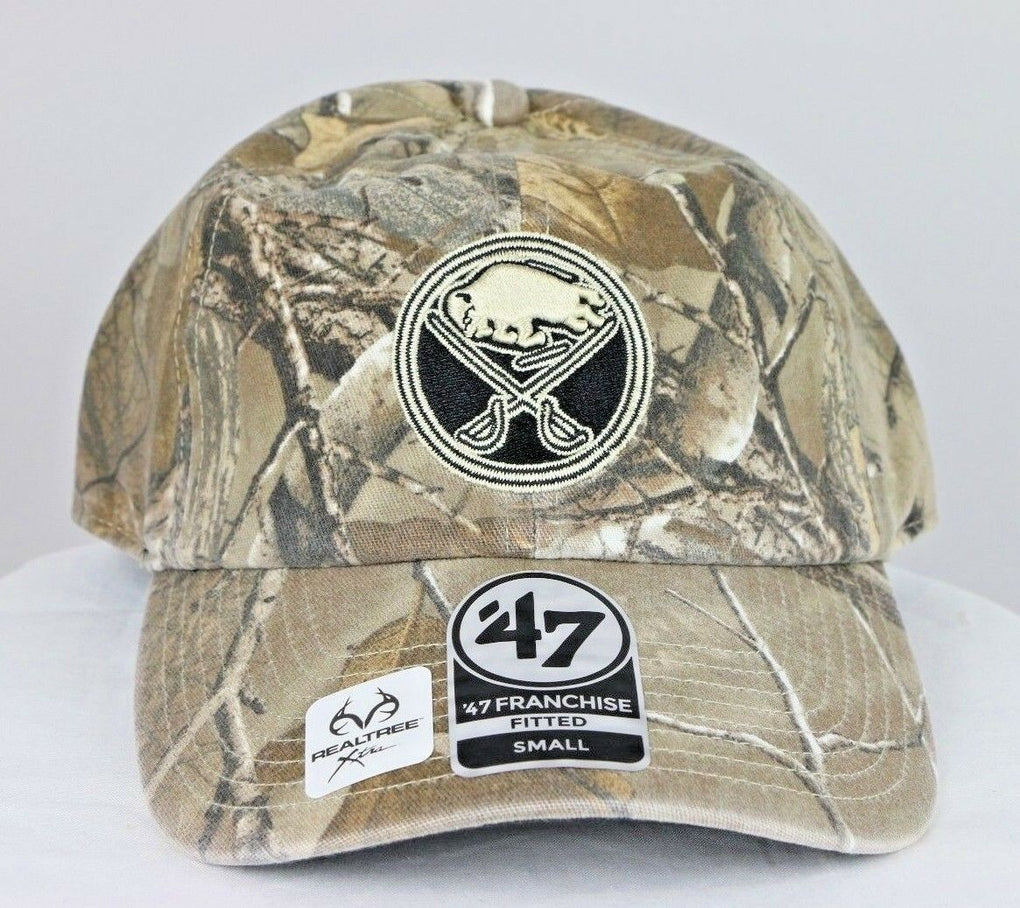 Buffalo Sabres NHL Realtree Franchise Fitted Camo Hat Cap, Small S - fazoom