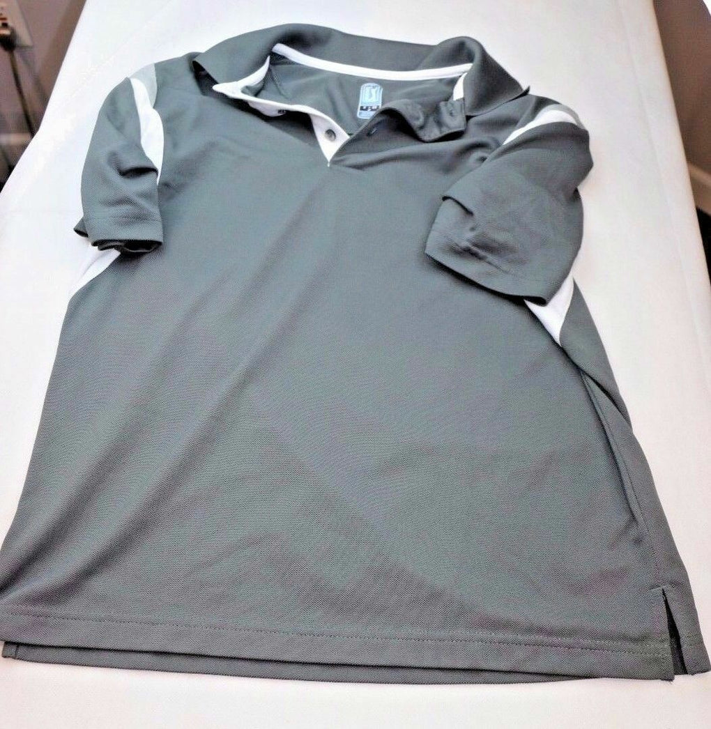PGA Golf Tour Gray Button Polo Shirt, Size S Small CH P - Fazoom