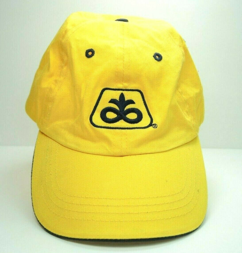 Pioneer Seeds Yellow Farming Adjustable Baseball Hat Cap Strapback - Fazoom