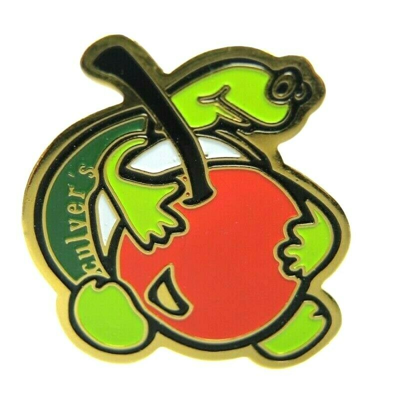 Culver's Restaurant Turtle Cherry Crew Employee Advertising Lapel Pin - Fazoom
