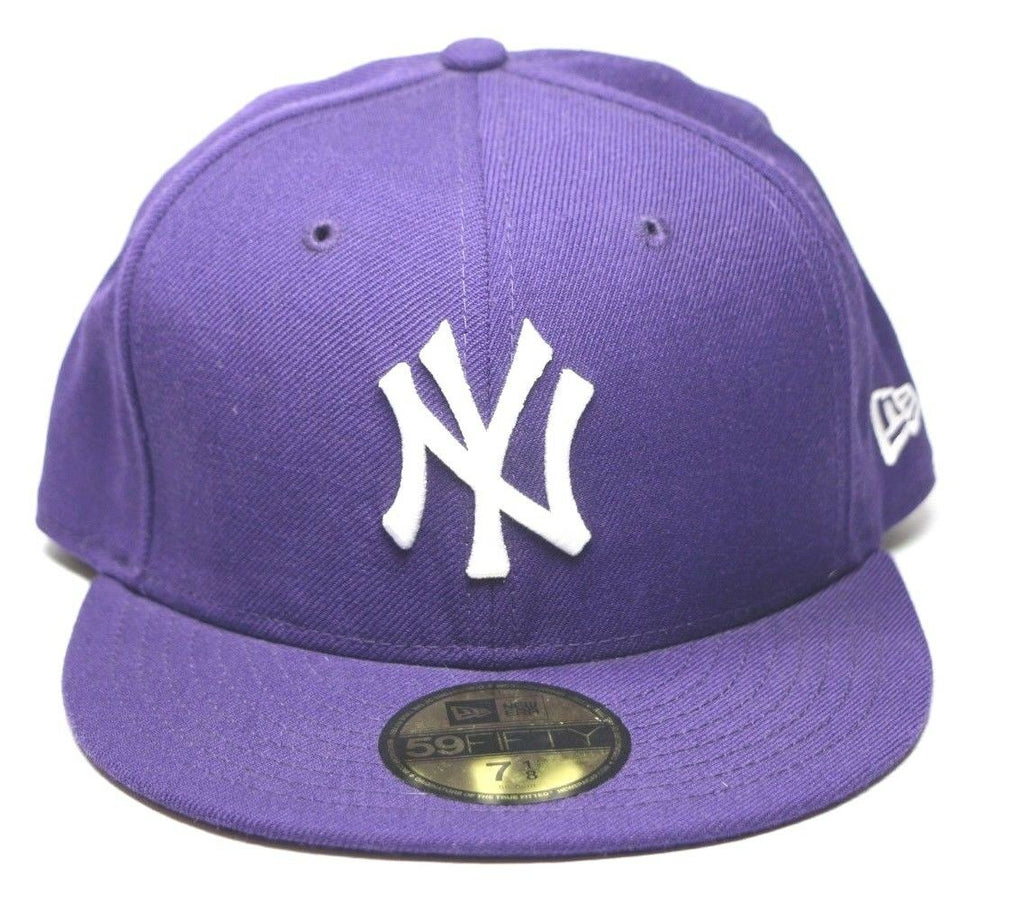 New York Yankees MLB 59fifty 5950 New Era Fitted Hat Cap Size 7 1/8, Color Navy - fazoom