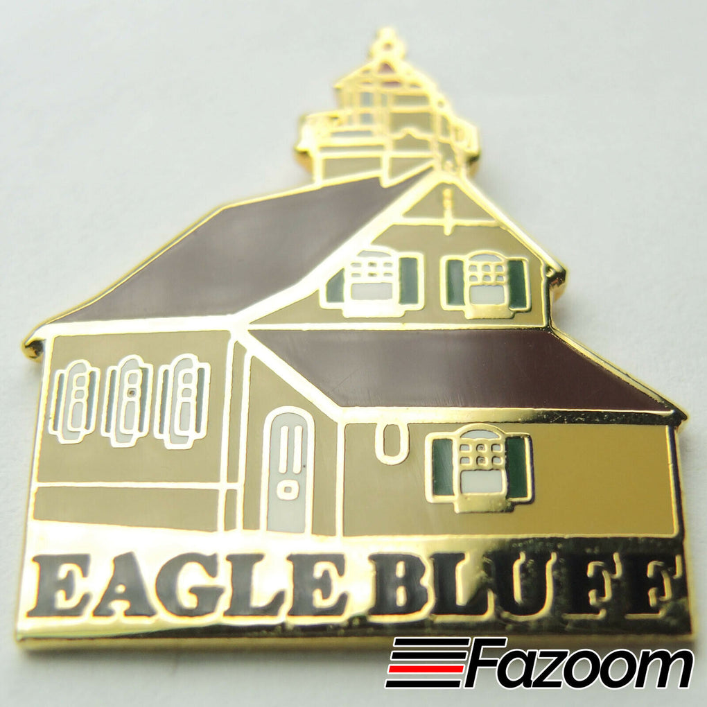 Eagle Bluff Wisconsin Lighthouse Lapel Pin - fazoom