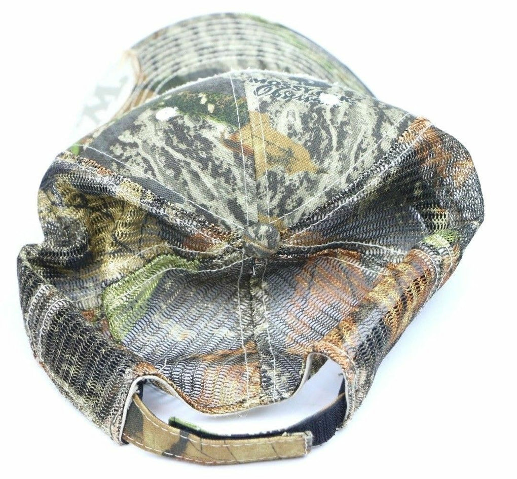 Winchester Distressed Mossy Oak Camouflage Camo Trucker Hat Hunting Fishing Cap - Fazoom