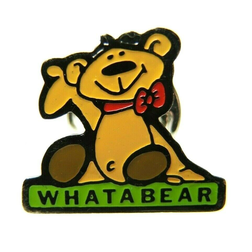 Whataburger Whatabear Rare Restaurant Souvenir Teddy Bear Lapel Pin - fazoom