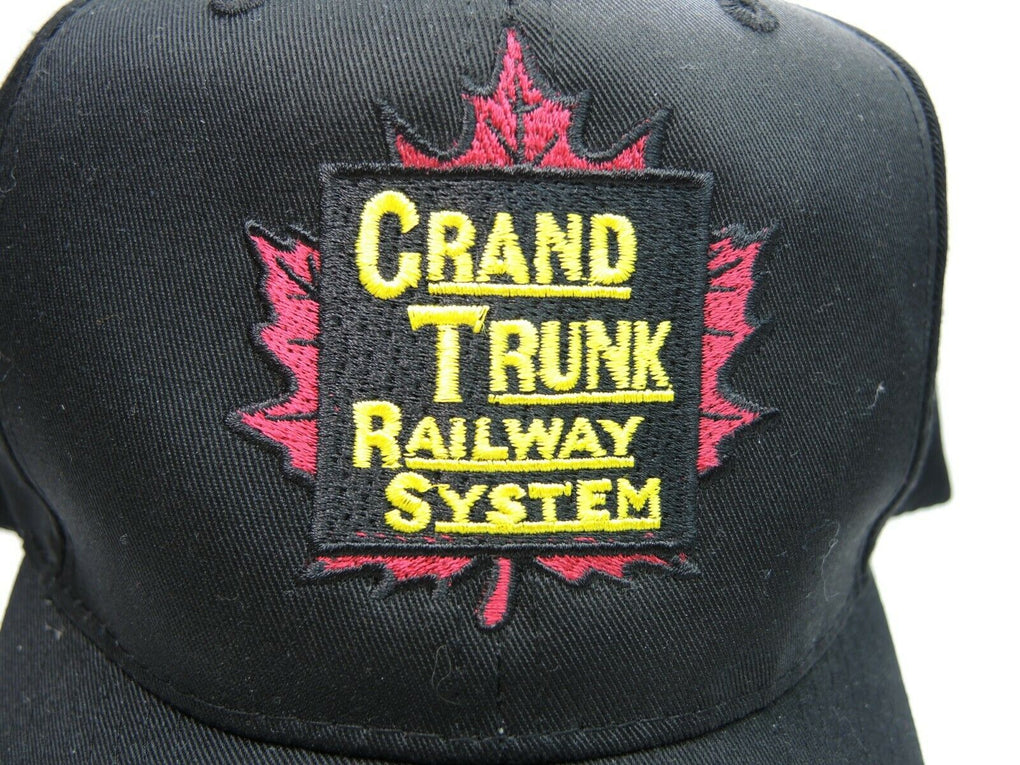 Grand Trunk Railway System Black Baseball Hat Cap Snapback Nissin Cap Trains - fazoom