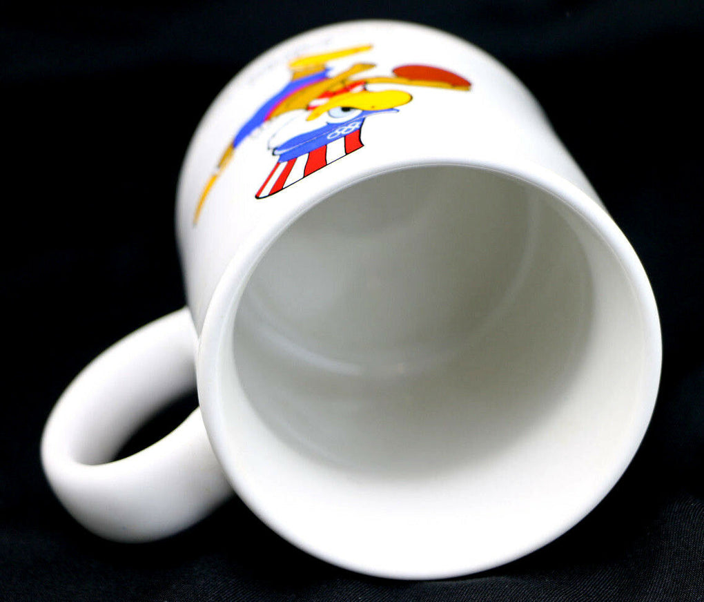 1984 Olympic Games Los Angeles Basketball Sam the Eagle Mug Papel - Fazoom