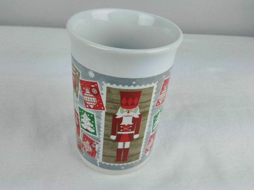 Merry Christmas Royal Norfolk Greenbrier Coffee Mug Festive Wishes - fazoom