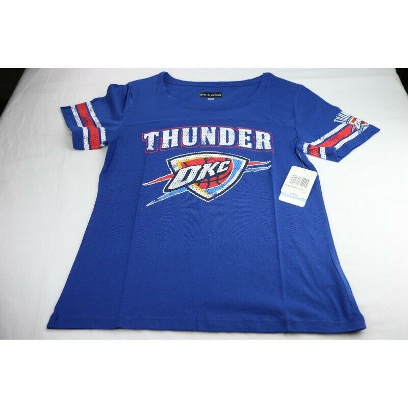 Oklahoma City Thunder Women's T-Shirt, Blue, Size Large - Fazoom