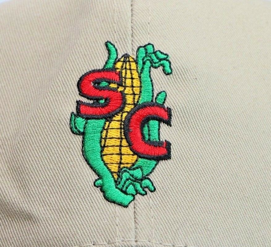 SC Corn Farming Farm Logo Stitched Beige Adjustable Baseball Hat Cap K-Products - fazoom
