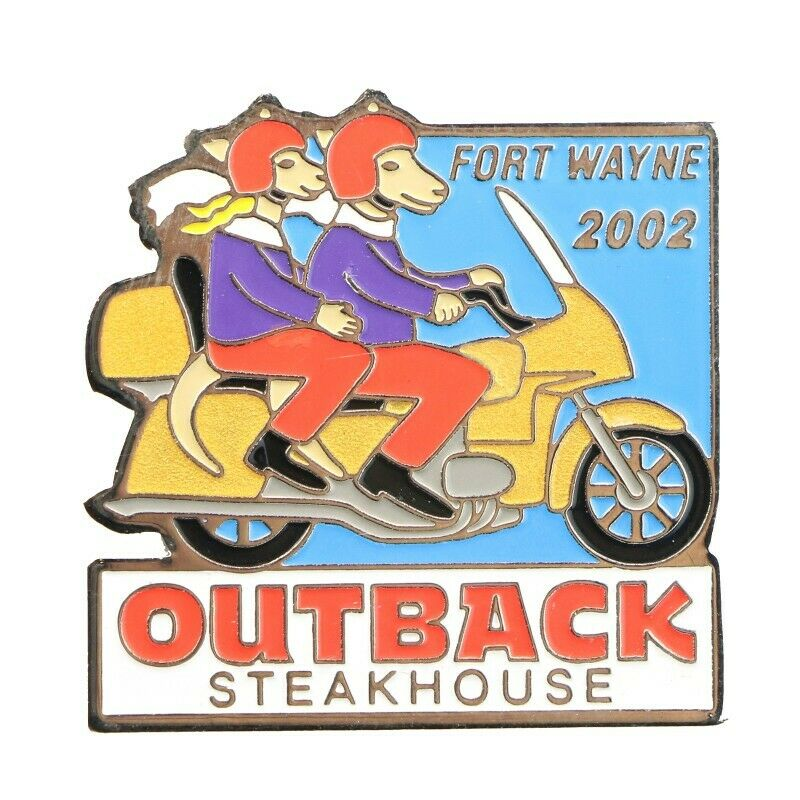 Outback Steakhouse Fort Wayne Indiana 2002 Motorcycle Lapel Pin - Fazoom