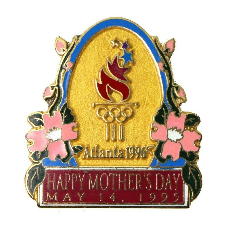 1996 Atlanta Summer Olympics Mother's Day 1995 Lapel Pin #416453 - fazoom