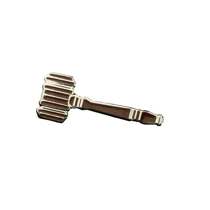 Auctioneer's Gavel Lapel Pin - Fazoom