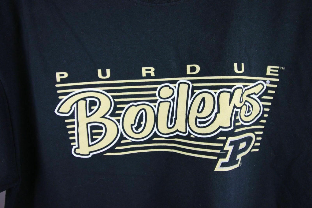Purdue Boilermakers Short Sleeve Black Graphic T-Shirt Unisex Tee NCAA, Large - Fazoom