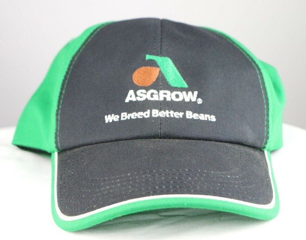 Asgrow Soybean Monsanto Seeds Farming Adjustable Strapback Hat Cap K-Products - fazoom