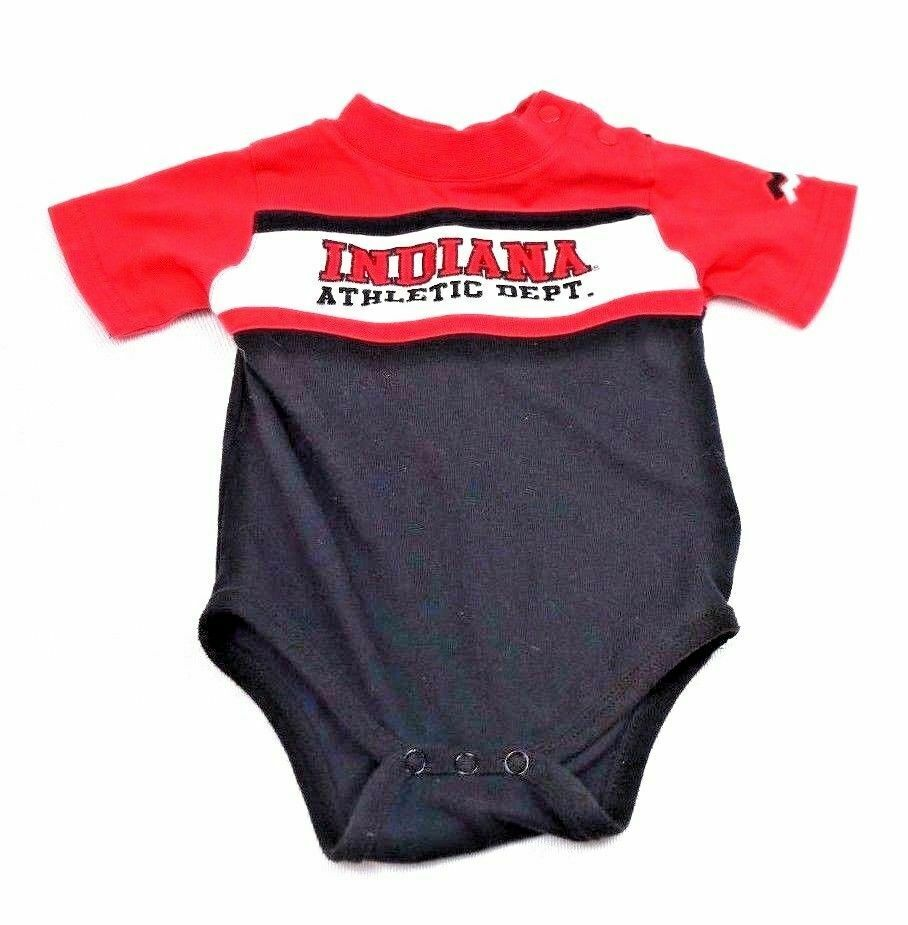 Indiana University Hoosiers Mighty Mac Baby One Piece Snap Shirt 12M 12 Months - Fazoom